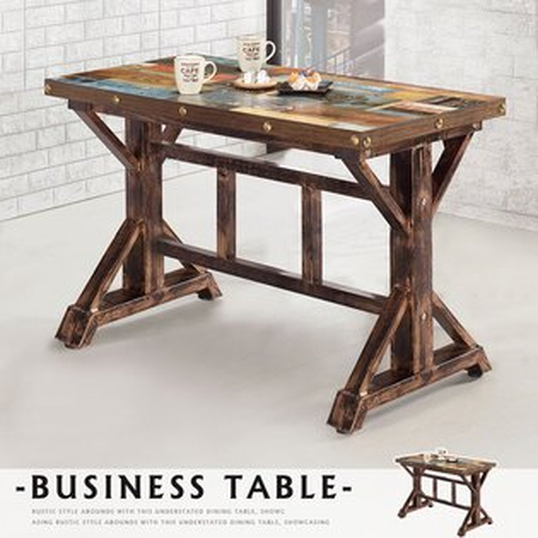 餐桌飯桌方桌會議桌商業桌【Yostyle】蜜雪兒4尺商業桌