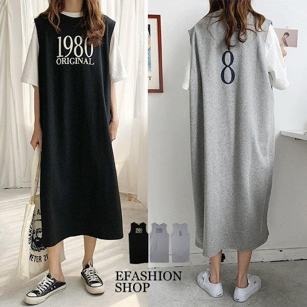 1980無袖長版背心裙-eFashion預【H16501016】