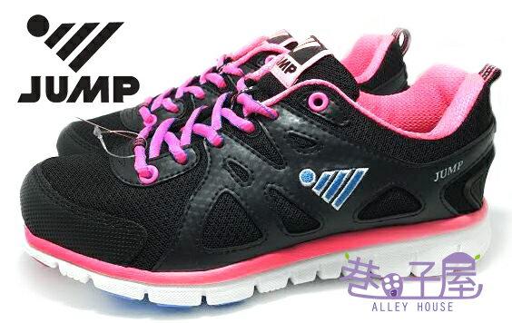 【巷子屋】JUMP將門 女款超輕量螢光配色運動慢跑鞋 [298] 黑桃 超值價$590