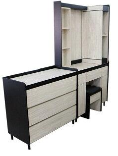 【尚品傢俱】332-03米諾斯化妝鏡台(含椅)