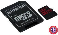 Kingston 32GB 32G microSDHC【100MB/s】microSD TF mcro SD SDHC A1 U3 4K V30 金士頓 手機記憶卡