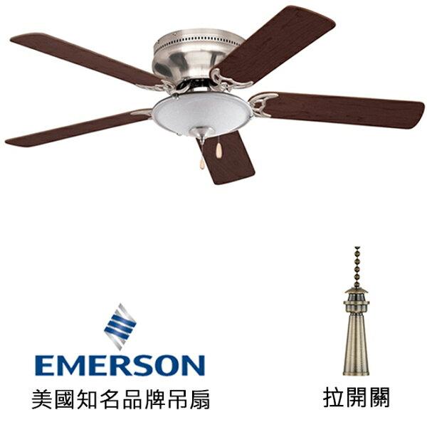 "[topfan]Emerson52""Snugger52英吋吸頂扇附燈(CF805SBS_LK53BS)刷鐵色(適用於110V電壓)"