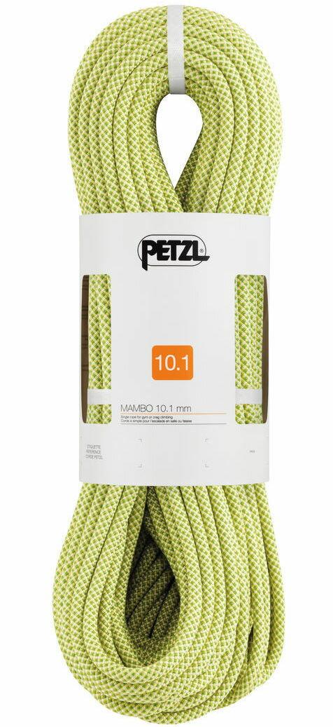 Petzl MAMBO 10.1 mm 攀岩繩/主繩/運動攀登/動力繩 R32AY 060 黃 60M