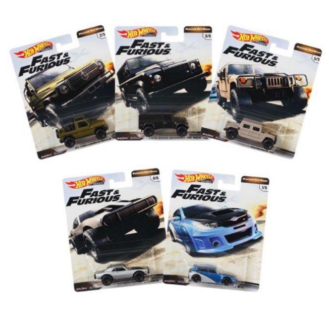 《風火輪Hot Wheels》 Fast & Furious玩命關頭合金車系列furious off-road  一組5入 GBW75-956D 東喬精品百貨