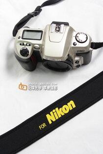 [享樂攝影]輕便減壓相機背帶Nikon黃字樣彈性防滑材質減重背帶相機背帶