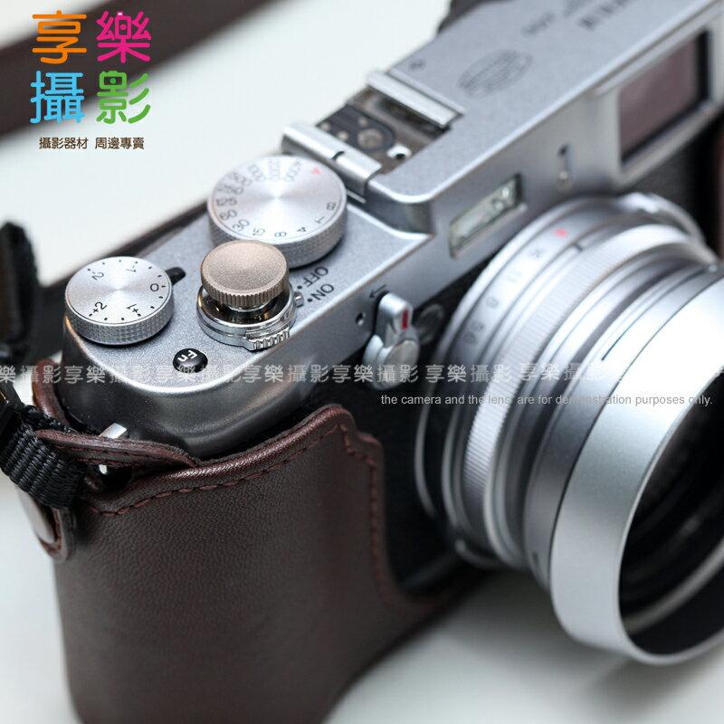 享樂攝影  傳統單眼機械相機快門鈕~12mm 霧面 鈦色 外接快門按鈕 手動相機 Lom