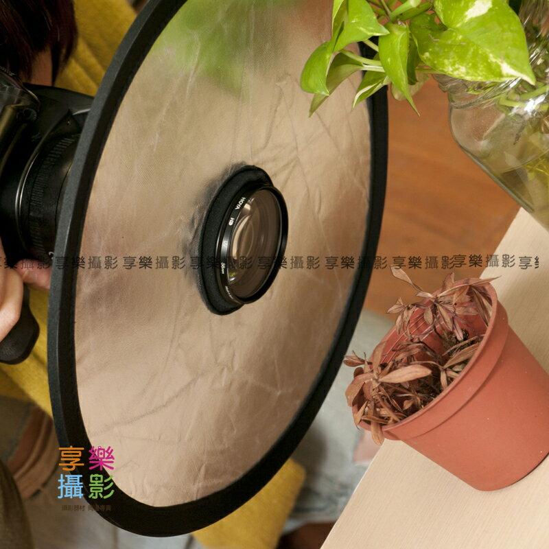 [享樂攝影] 30cm 迷你金銀雙色反光補光板 忍者板 可折疊收納 圓形反光板附袋 環閃眼神光效果