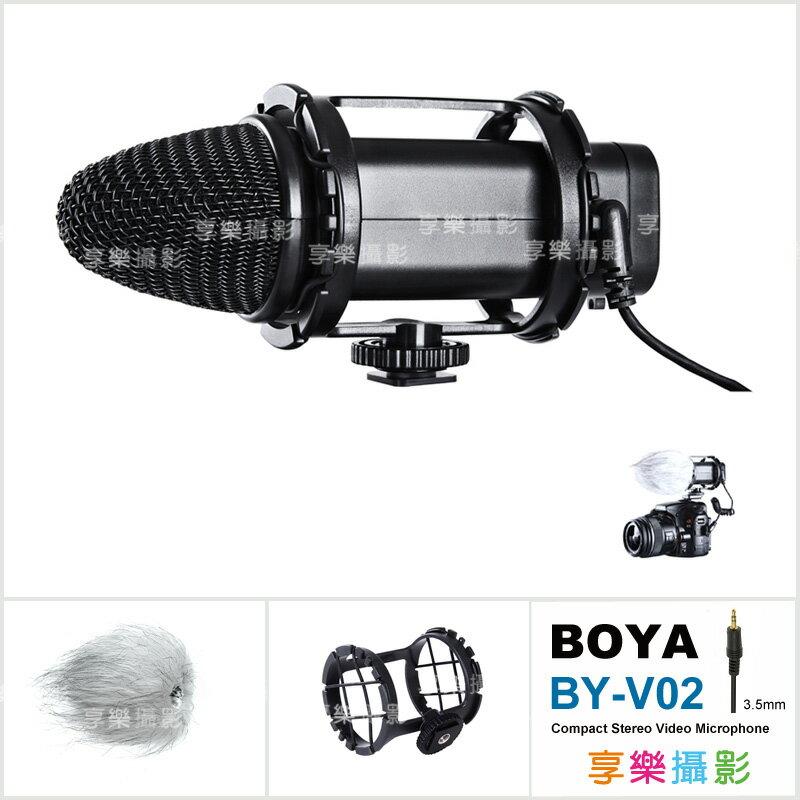 ^~享樂攝影^~ 貨 一年 BOYA BY~V02 立體聲雙軸電容式麥克風 高感度心型指向