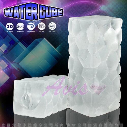 水立方 水晶3D立體紋路自慰器 乳白緊實感