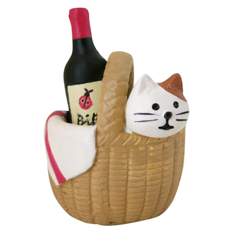 Decole日本擺設公仔 - Concombre 野餐籃和小貓 ( ZCB-87263 )
