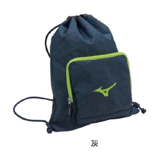 【美津濃MIZUNO】後背包 運動背包 束口袋 多功能 簡易背袋 2018新品 -33TM800307(灰)[陽光樂活]