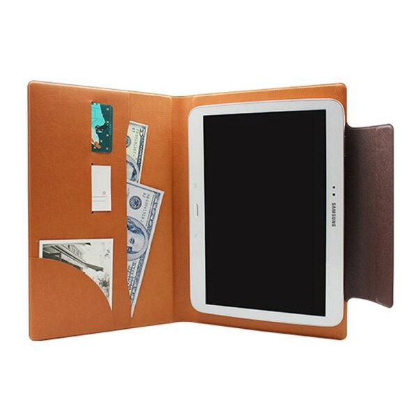 FENICE:【FENICE】超薄型黏貼式10吋平板電腦共用保護皮套(咖啡)