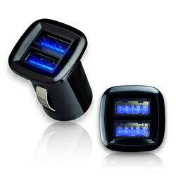 【迪特軍3C】AB233 黑爵方型迷你LED雙USB車充器 (IP-C-AB233)