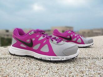 Shoestw【554901-062】NIKE WMNS REVOLUTION2 MSL 慢跑鞋 灰紫 女款