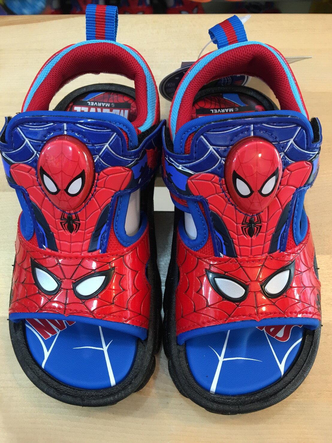 【禾宜精品】正版 蜘蛛人 Marvel 漫威 電燈涼鞋 18,19,20 台灣製造 SGS檢驗合格 童鞋