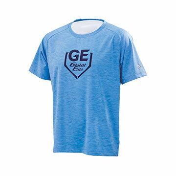 12TC7L0221(淺藍)GlobalElite男彈性短袖T恤【美津濃MIZUNO】