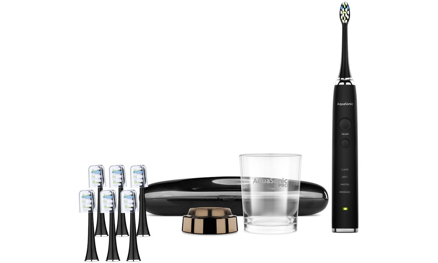 AquaSonic PRO Ultrasonic Whitening Smart Toothbrush with Wireless Charging  Glass