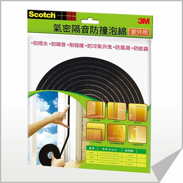 【買就送來店禮】3M 8803 室外用氣密隔音防撞泡棉(4~6mm)《滿額899免運》