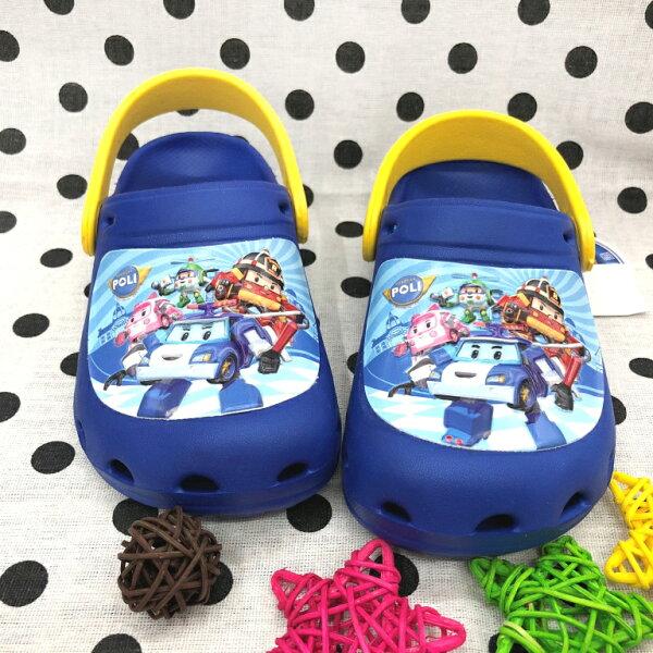 【巷子屋】救援小隊-童款波力超輕量布希鞋涼拖鞋[61026]藍MIT台灣製造超值價$200