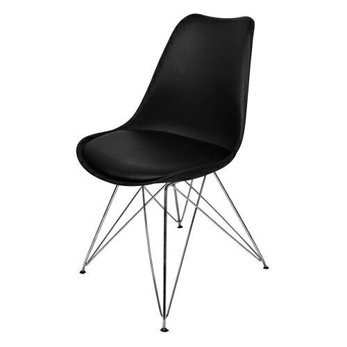 【尚優家居】朵妮拉休閒椅/餐椅/吧檯椅/造型椅/特餐椅 (黑色)