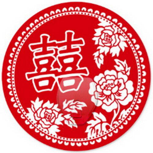 【2EASY】無痕掛勾 幸福單掛鉤-囍字(富貴花)
