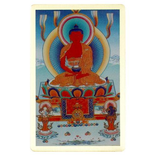 阿彌陀佛-隨身護身卡/唐卡-銅箔(PBC036)