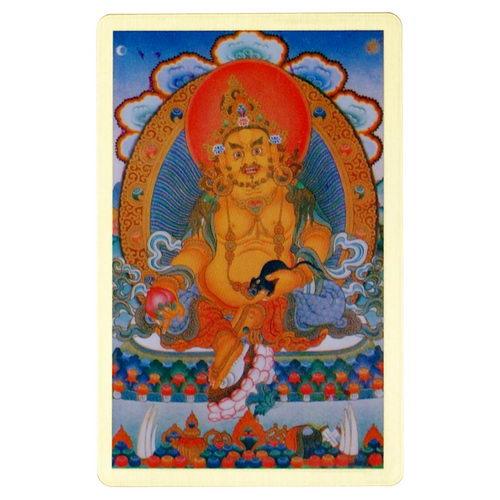 黃財神-隨身護身卡/唐卡-銅箔(PBC045)