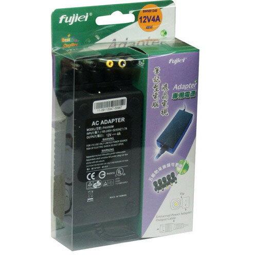 Fujiei 多功用 五合一 防呆接頭 變壓器 輸出:12V 4A 筆電變壓器 液晶螢幕變壓器