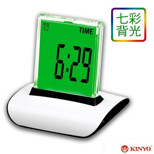 【KINYO】炫彩液晶無框電子鐘(TD336)