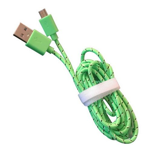 【KINYO】MicroUSB編織網資料傳輸充電線-綠(USB-40)