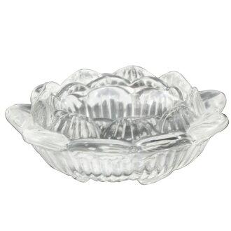 【藏傳佛教文物】琉璃蓮花造型 酥油燈座(PBL-H01)