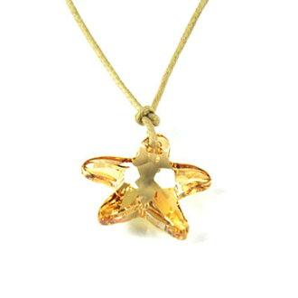 【NEOGLORY】黃金星星物語施華洛 水晶 吊墜 項鏈 項鍊