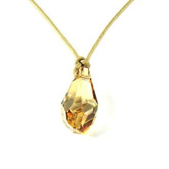 【NEOGLORY】神秘黃金水滴施華洛 水晶 吊墜 項鏈 項鍊