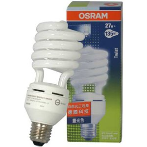 OSRAM 歐司朗 27W 110V 高效 節能 螺旋省電燈泡T3 E27