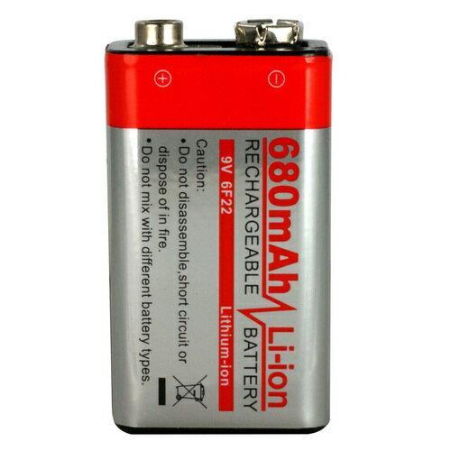 《GN》9V 680mAh可充電鋰電池(9VLI680)