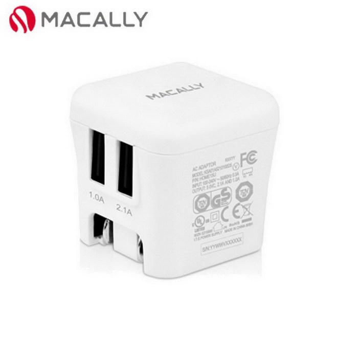 【Macally】雙埠USB旅充電源充電器(HOME15U)