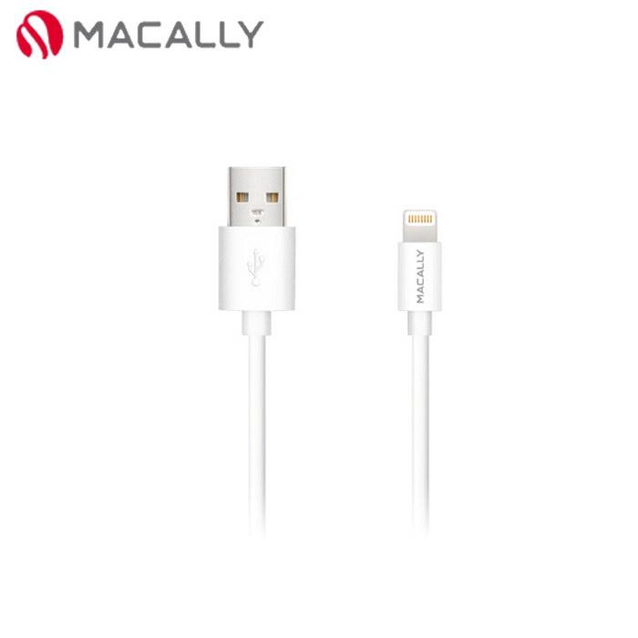 【Macally】iPhone 6/5/iPad mini/Air專用Lightning充電/傳輸線-0.9M白(MISYNCABLE3W)