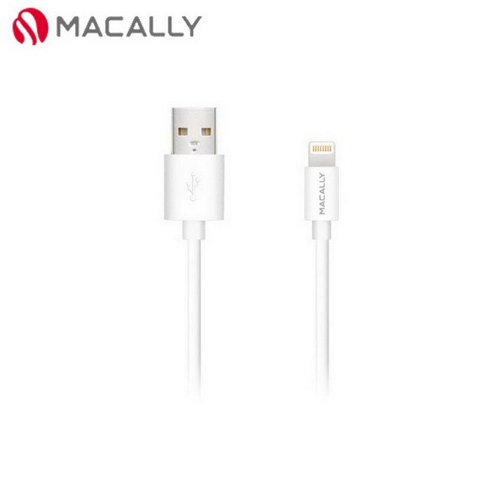 【Macally】iPhone 6/5/iPad mini/Air專用Lightning充電/傳輸線-1.8M白(MISYNCABLE6W)