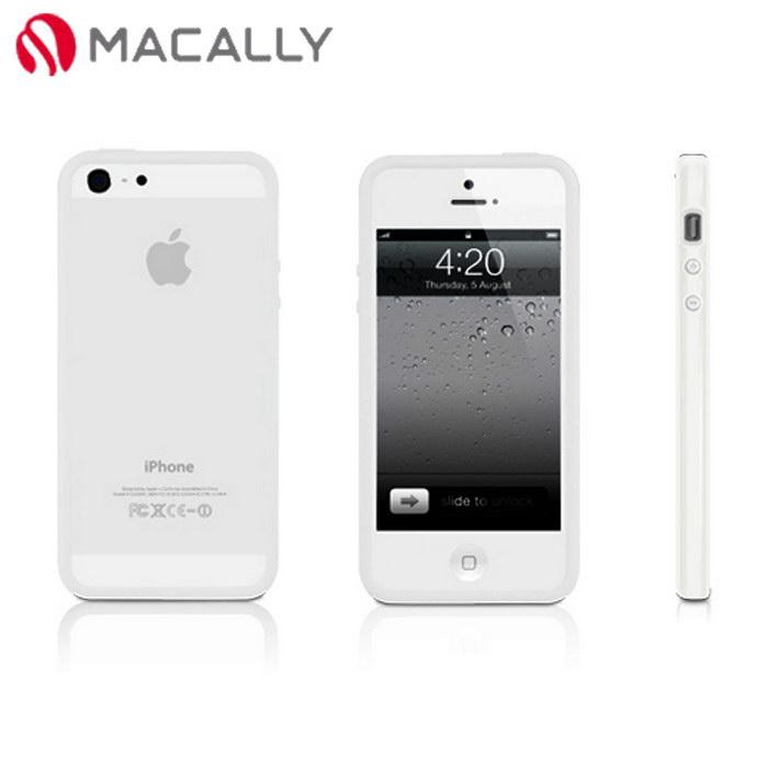【Macally】iPhone 5/5S時尚雙色邊框保護套-白色(RIM5W)