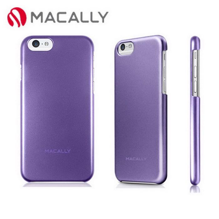 ~Macally~iPhone 6 4.7 金屬 防護背蓋~紫 SNAPP6MPU