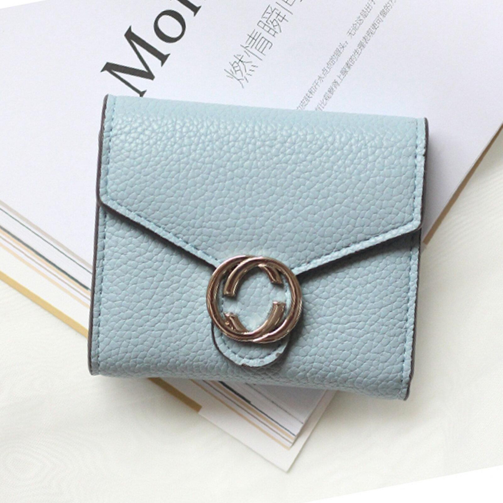 皮夾 錢包 名品質感金屬雙C短夾【O3220】☆雙兒網☆ 2