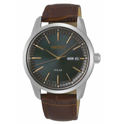 方采鐘錶 SEIKO精工 質感簡約太陽能時尚腕錶V158-0BE0G/ SNE529P1 滿兩千贈星辰收納包