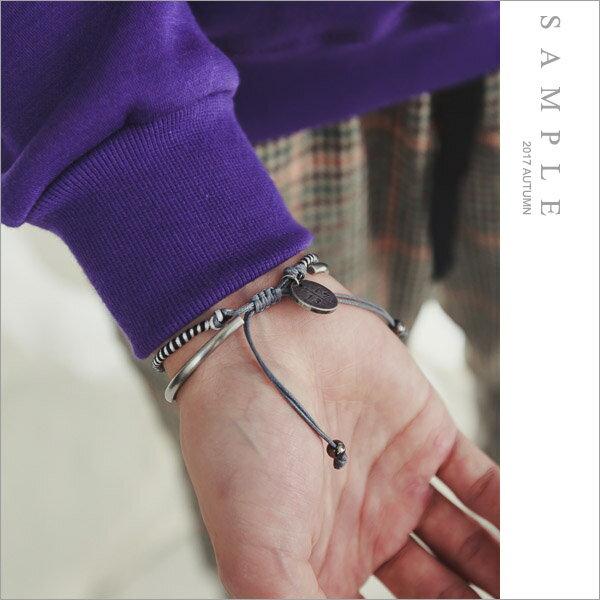 sample:手環編繩圓牌【AC19359】-SAMPLE