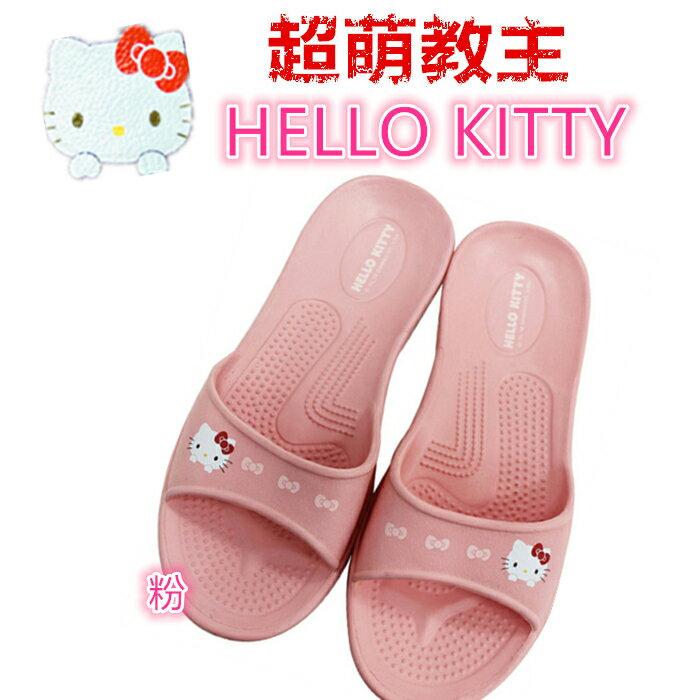 三麗鷗 粉色 HELLO KITTY拖鞋尺寸36.38.40 台灣製造超輕防水防滑拖鞋室內外拖鞋 浴室拖鞋