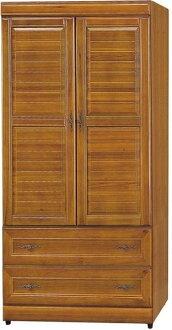 【石川家居】EF-126-3 施勝發正樟木3*6尺實木衣櫃 (不含其他商品) 需搭配車趟