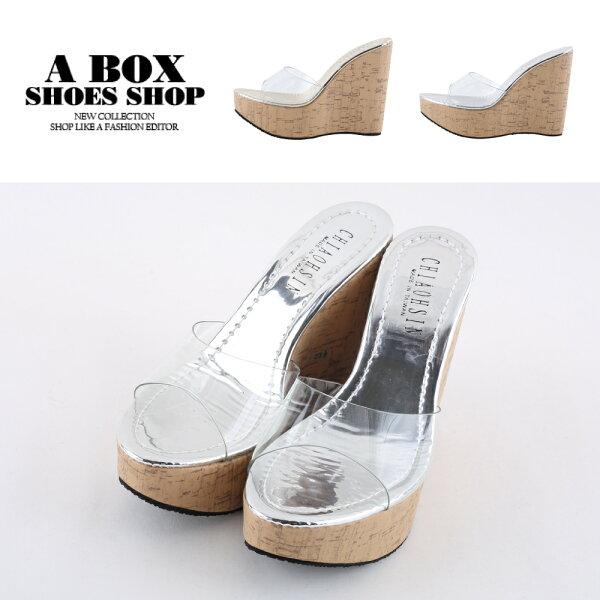 【KD958】優雅氣質超高跟楔型鞋金銀透明涼鞋12.5CMMIT台灣製2色