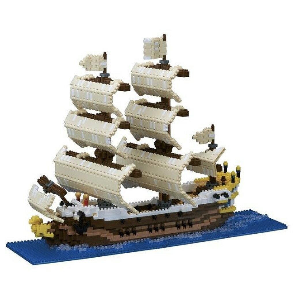 【LETGO】現貨 正版公司貨 Nanoblock 日本河田積木 NB-030 帆船 海盜船 海賊船