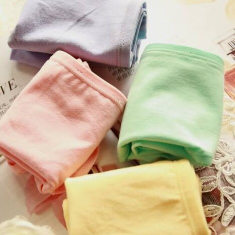 3件199免運【夢蒂兒】素色天然棉中腰平口褲 3件組(隨機色出貨) 0