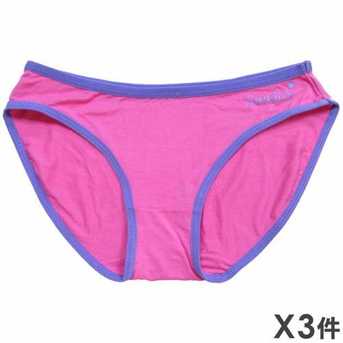 3件199免運【夢蒂兒】時尚運動風三角褲  3件組(隨機色出貨) 1