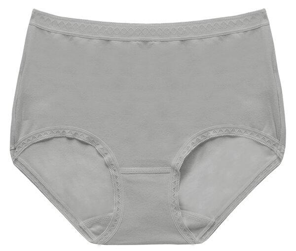 全館免運【夢蒂兒】MIT素色舒棉中腰三角褲(灰) 1